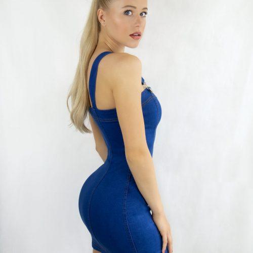 Striking Blue Denim Mini