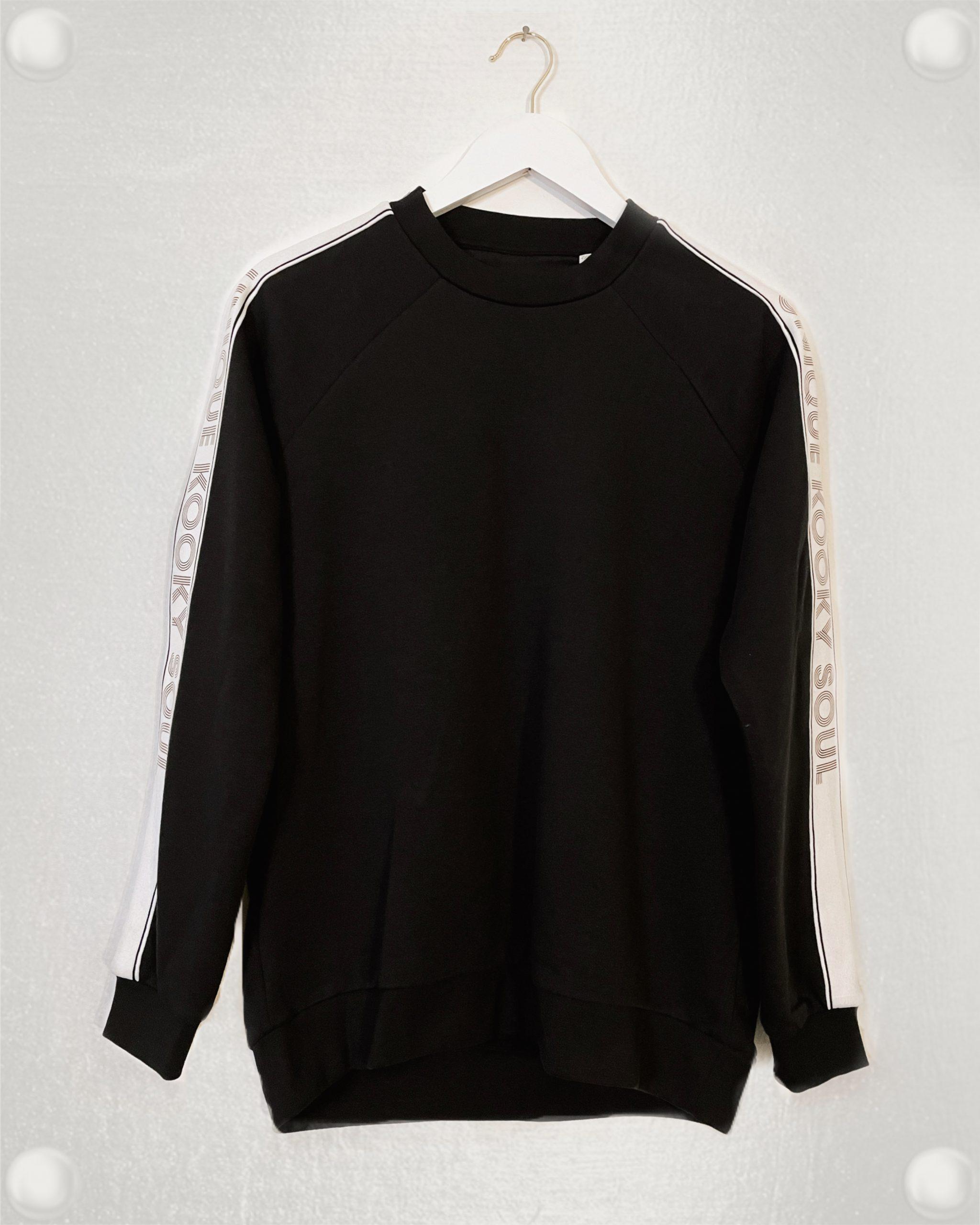 Black & Copper Printed Contrast Sweatshirt