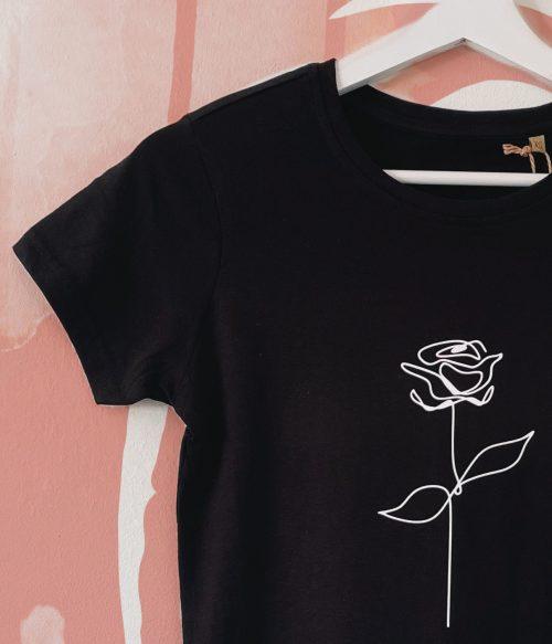 Sketched Rose Organic T