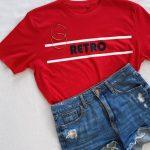 Retro Organic Red Tee