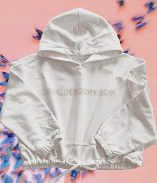 Oversized Cropped Box Hoodie