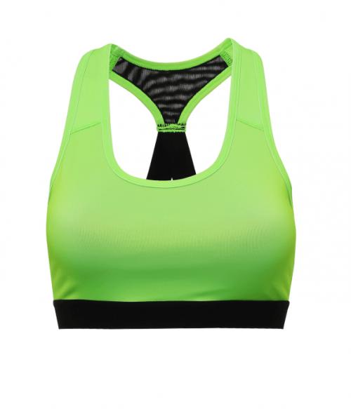 Neon Lime Medium Impact Sports Bra