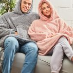 The Ribbon oversized cosy reversible shaggy sherpa hoodie